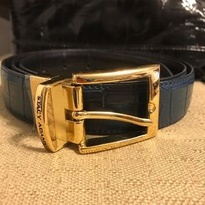 Stacy Adams genuine leather croc embossed belt